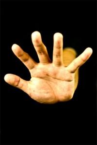 手のひび割れ1
