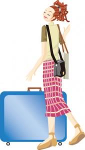 スーツケース女子1